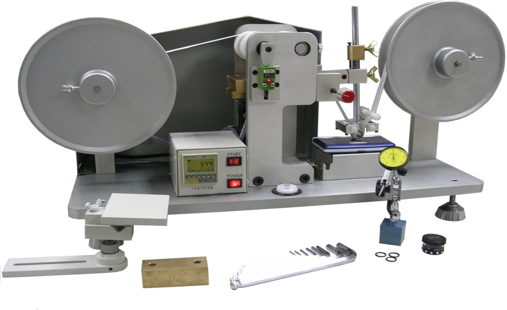 White Color  R.C.A Scroll Abrasion Tester In Abrasion Test Instrument